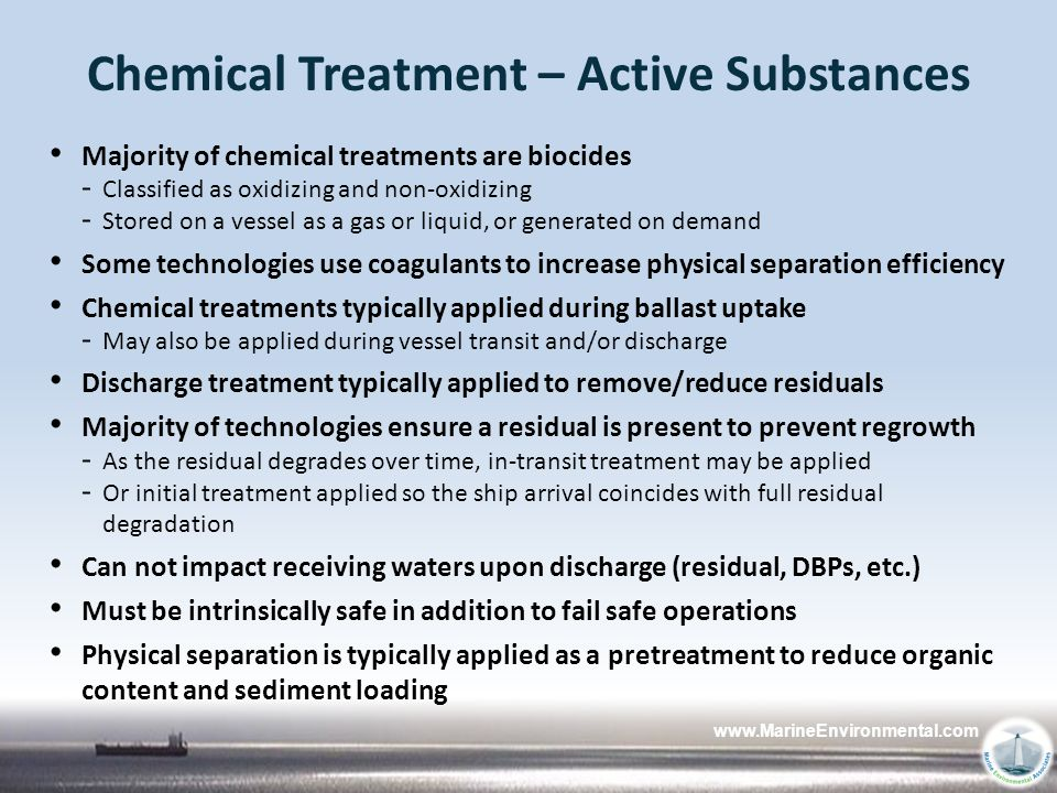 Chemical Treatment – Active Substances