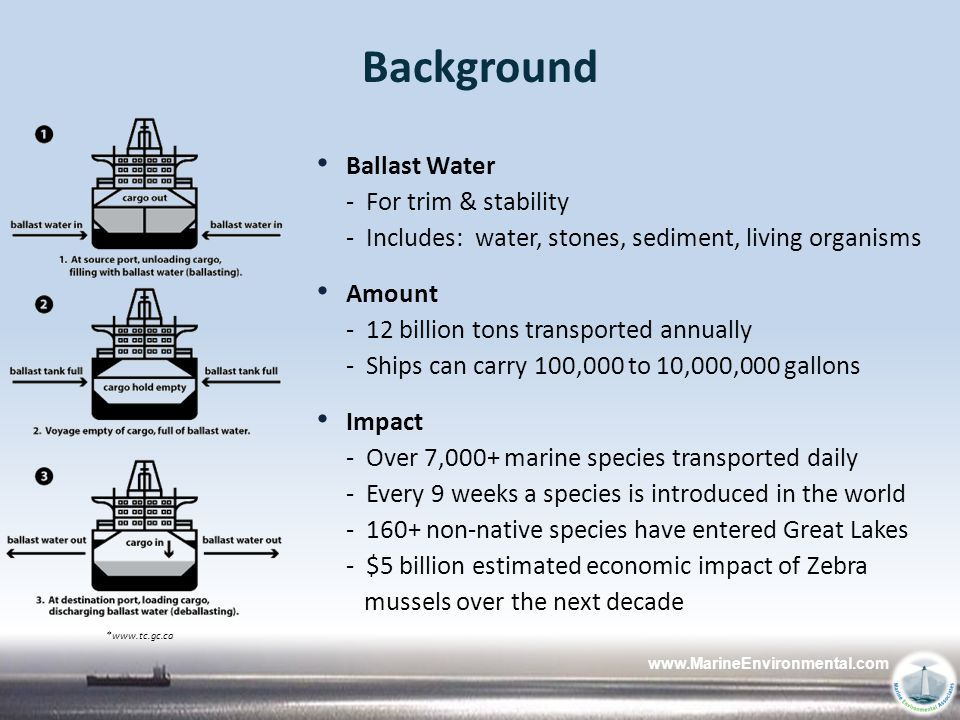 Background Ballast Water - For trim & stability