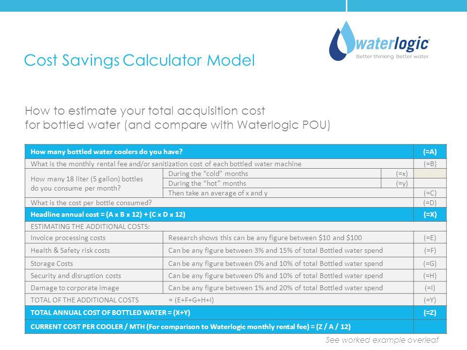 Cost Savings Calculator Model