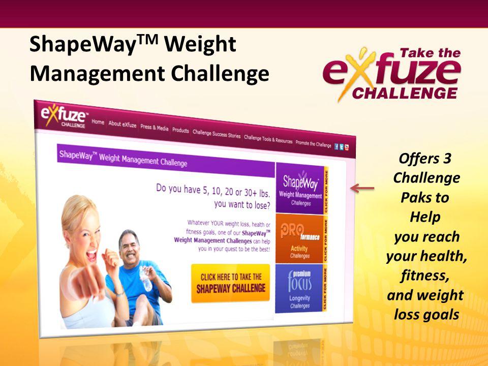 ShapeWayTM Weight Management Challenge