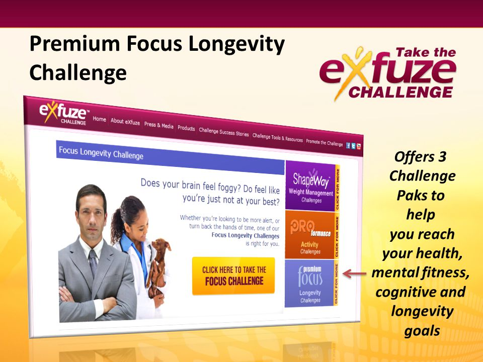 Premium Focus Longevity Challenge