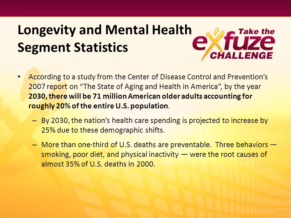 Longevity and Mental Health Segment Statistics