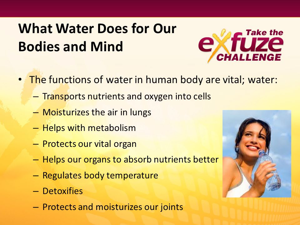 What Water Does for Our Bodies and Mind