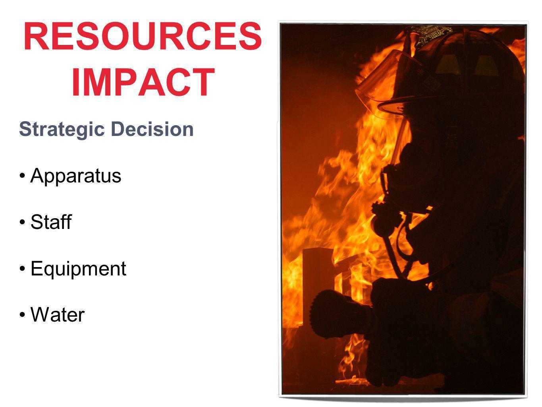 RESOURCES IMPACT Strategic Decision Apparatus Staff Equipment Water