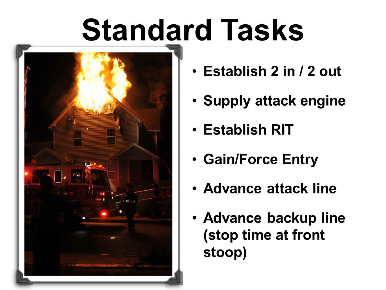 Standard Tasks Establish 2 in / 2 out Supply attack engine