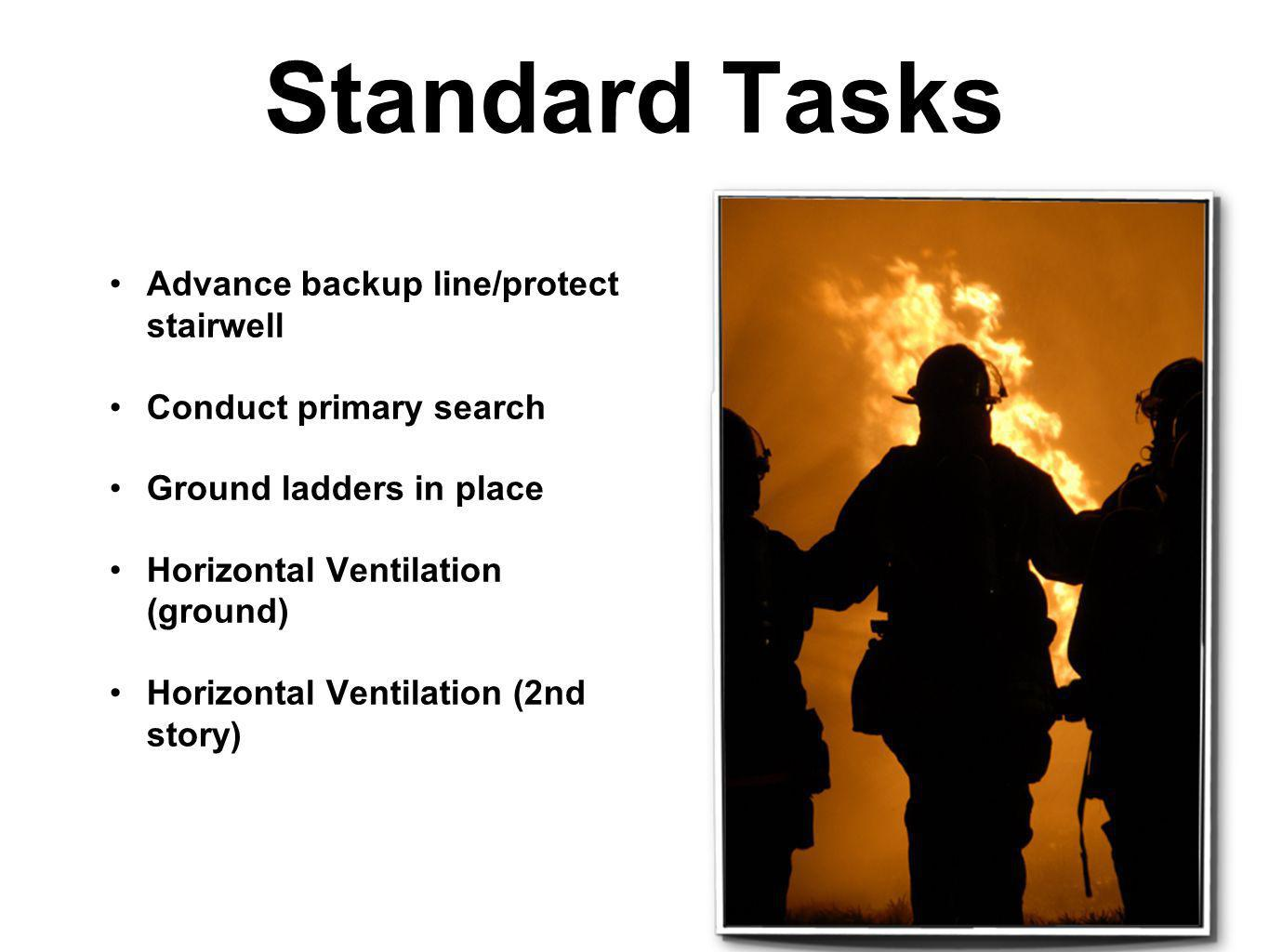 Standard Tasks Advance backup line/protect stairwell