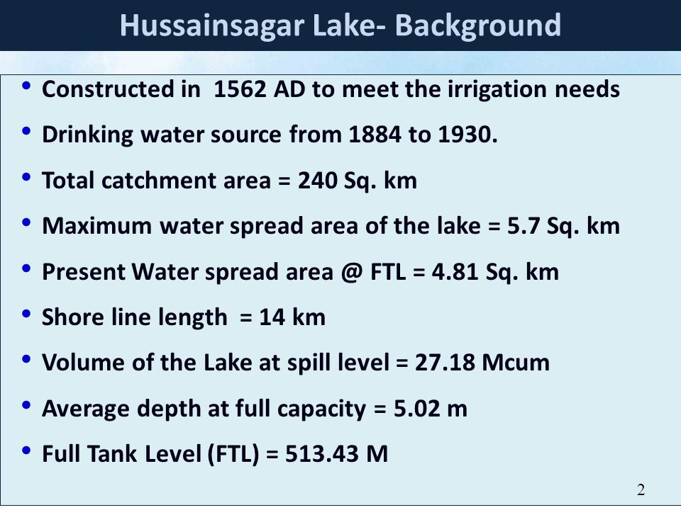 Hussainsagar Lake- Background