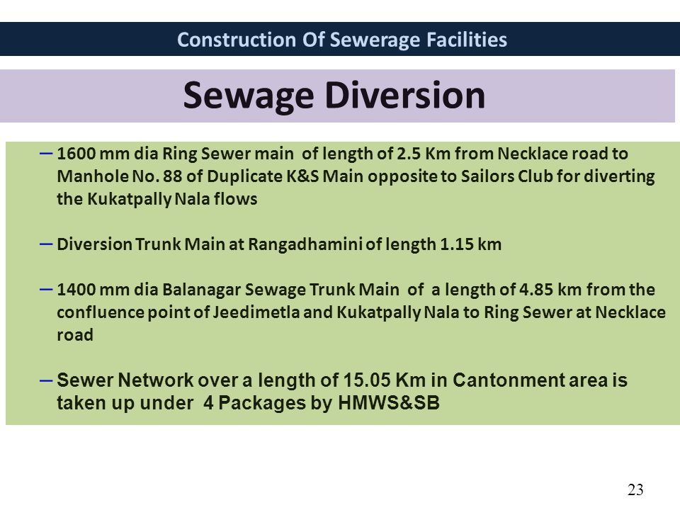 Construction Of Sewerage Facilities