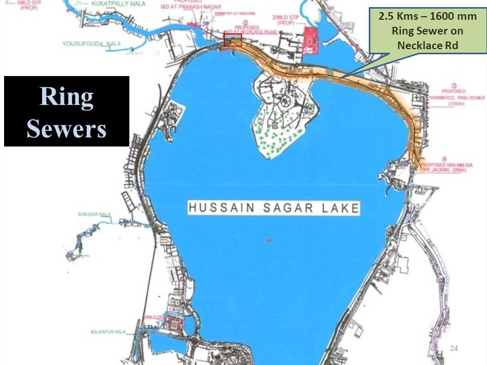 2.5 Kms – 1600 mm Ring Sewer on Necklace Rd