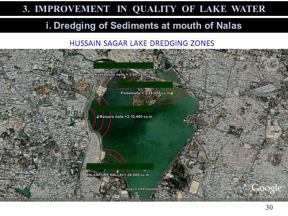 HUSSAIN SAGAR LAKE DREDGING ZONES