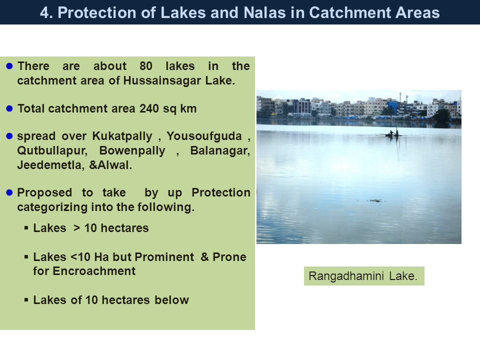 4. Protection of Lakes and Nalas in Catchment Areas