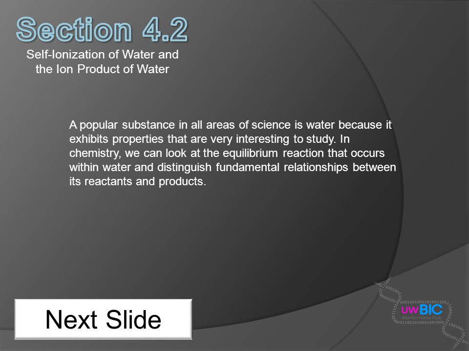 Self-Ionization of Water and the Ion Product of Water
