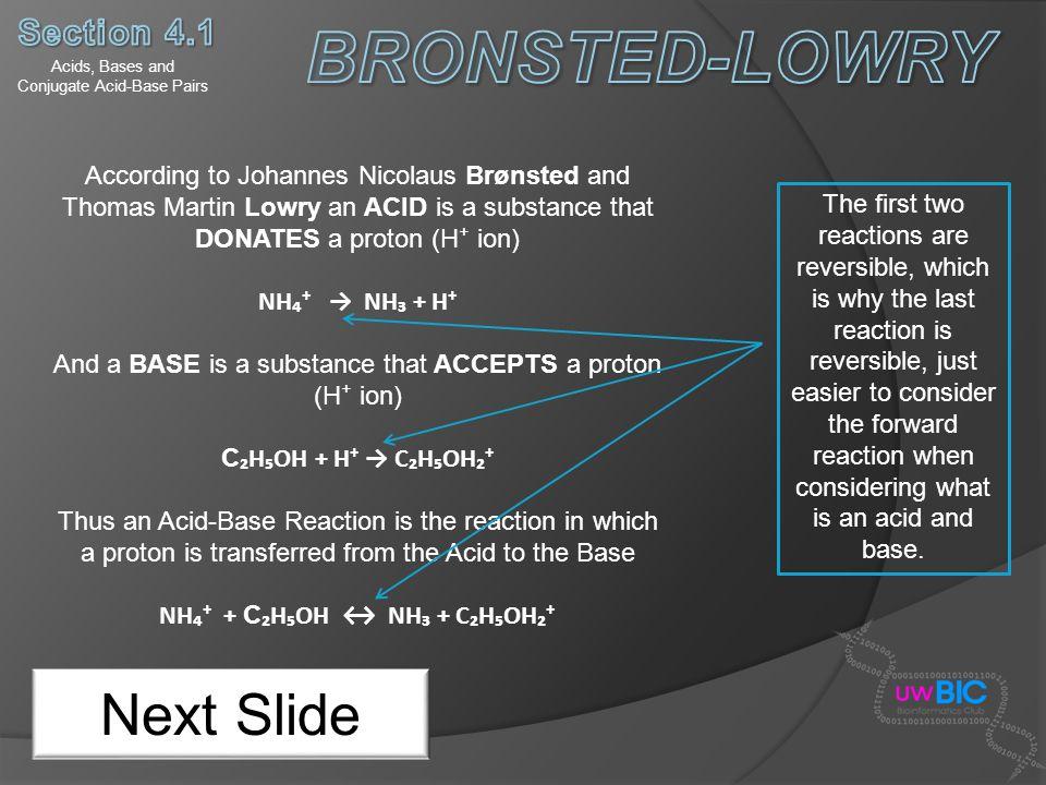 Acids, Bases and Conjugate Acid-Base Pairs