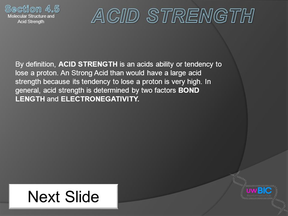 Molecular Structure and Acid Strength