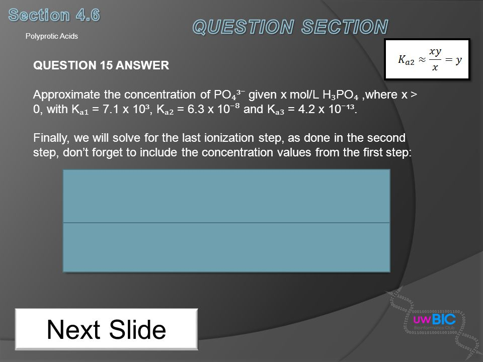 Next Slide QUESTION SECTION Section 4.6 QUESTION 15 ANSWER