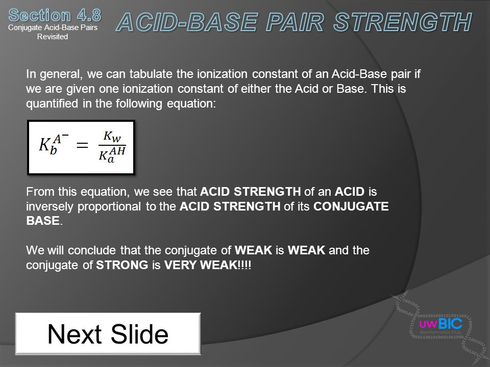 Conjugate Acid-Base Pairs Revisited