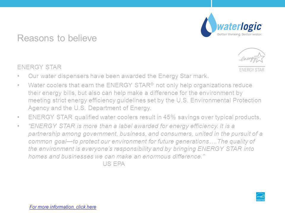 Reasons to believe ENERGY STAR
