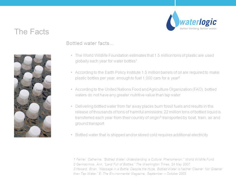The Facts Bottled water facts...