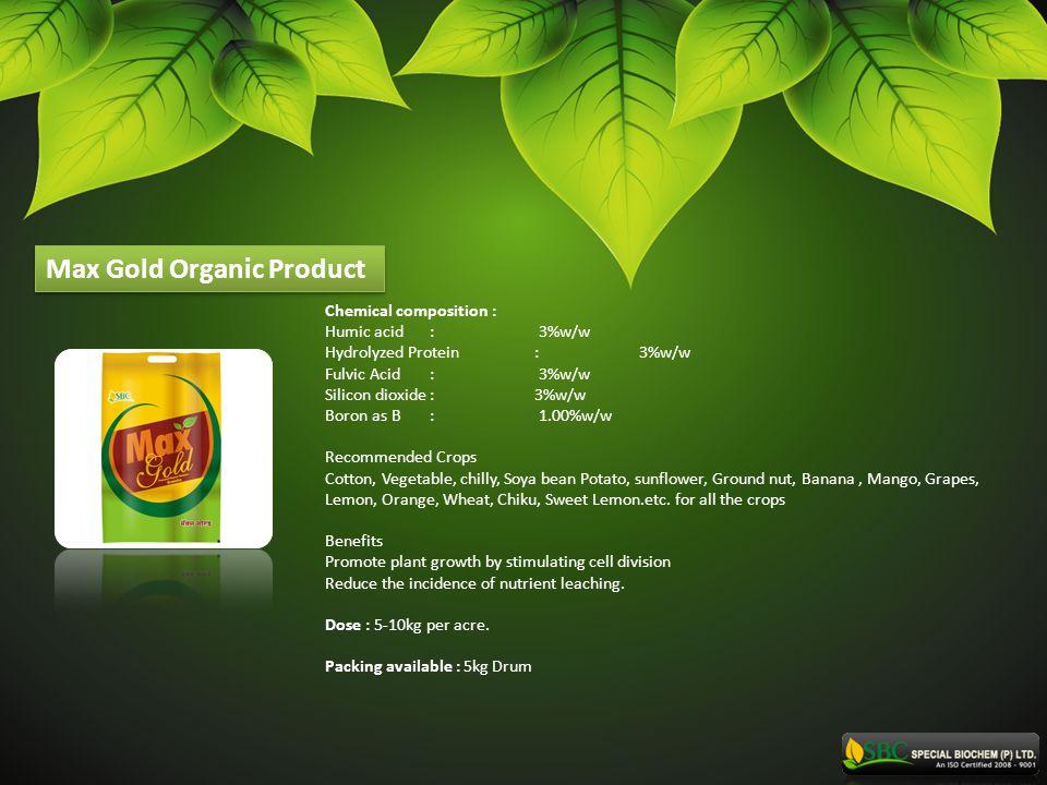 Max Gold Organic Product