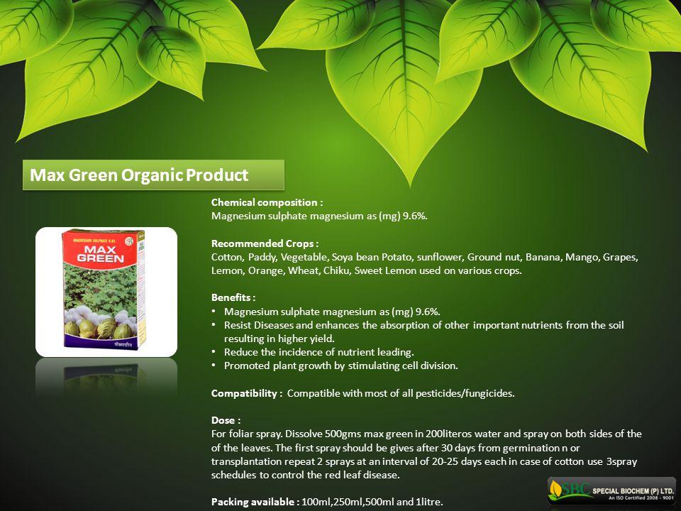 Max Green Organic Product
