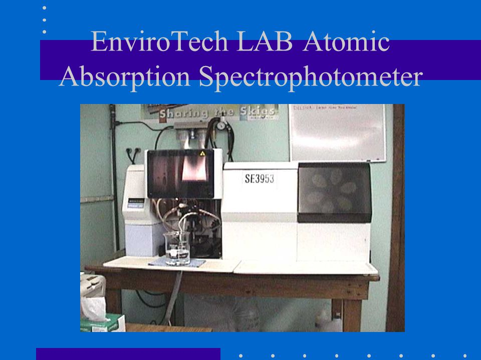EnviroTech LAB Atomic Absorption Spectrophotometer