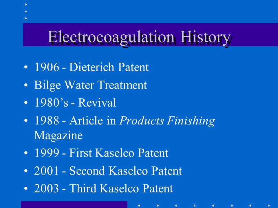 Electrocoagulation History