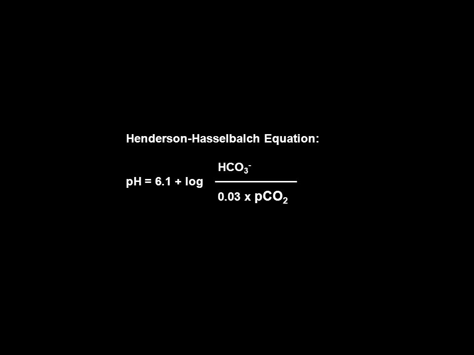 Henderson-Hasselbalch Equation: