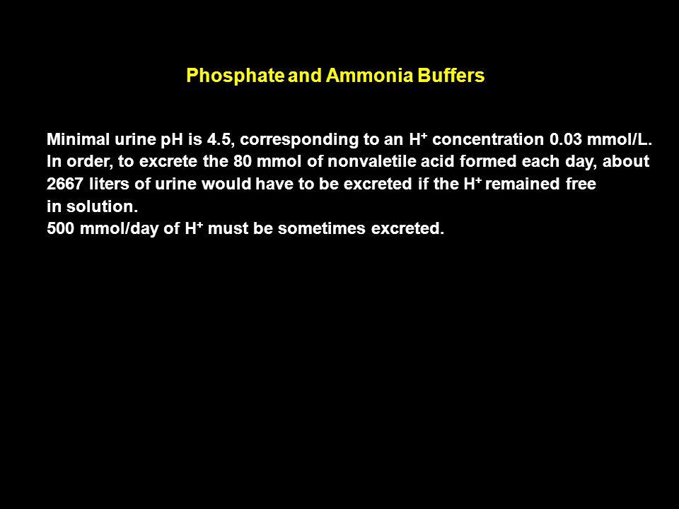 Phosphate and Ammonia Buffers