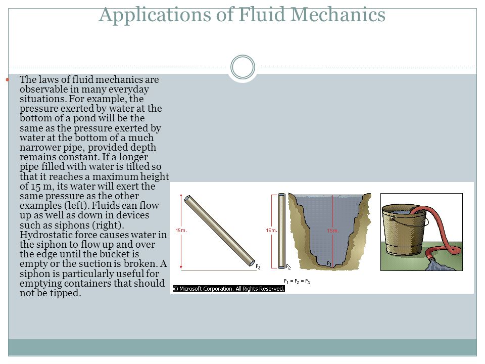 Applications of Fluid Mechanics