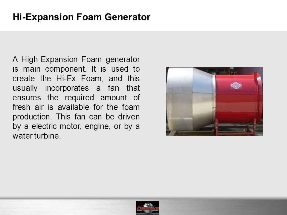 Hi-Expansion Foam Generator
