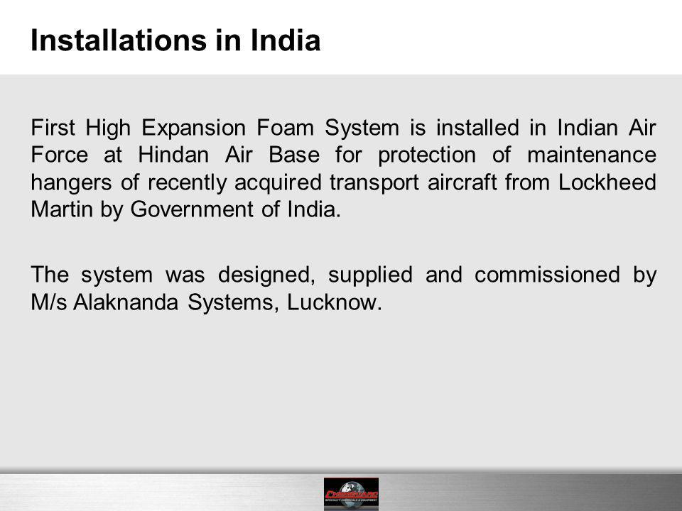 Installations in India