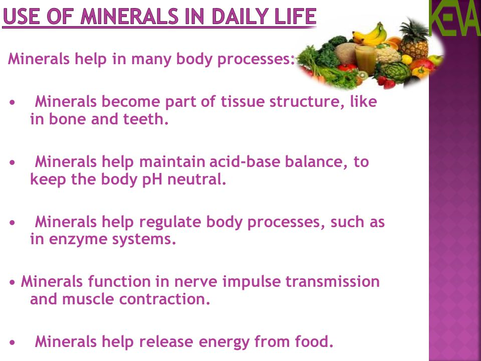 Use of Minerals in daily life