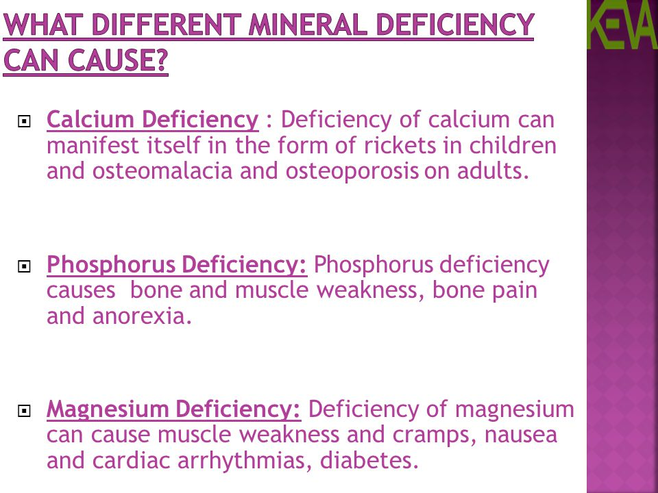 What Different Mineral Deficiency can Cause