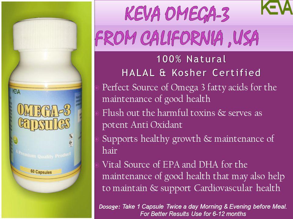KEVA Omega-3 From California ,usa