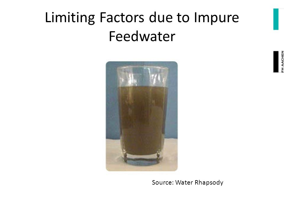 Limiting Factors due to Impure Feedwater