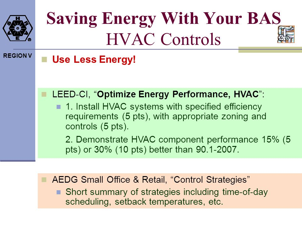 Saving Energy With Your BAS HVAC Controls