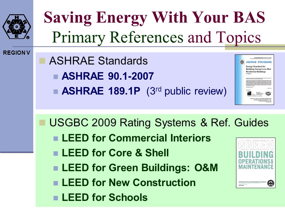 Saving Energy With Your BAS Primary References and Topics