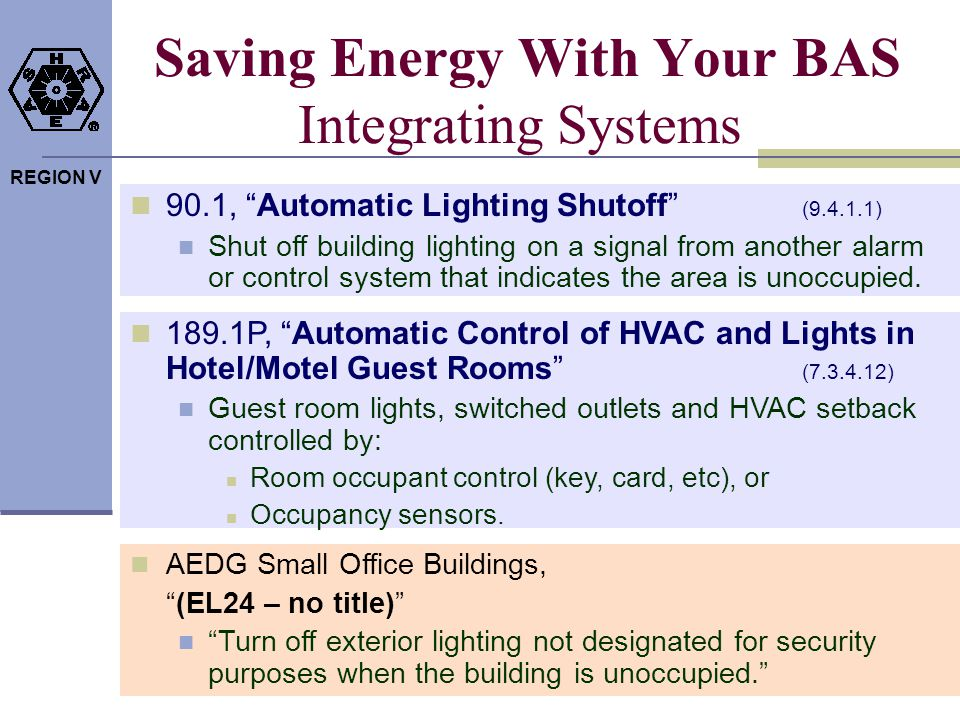 Saving Energy With Your BAS Integrating Systems