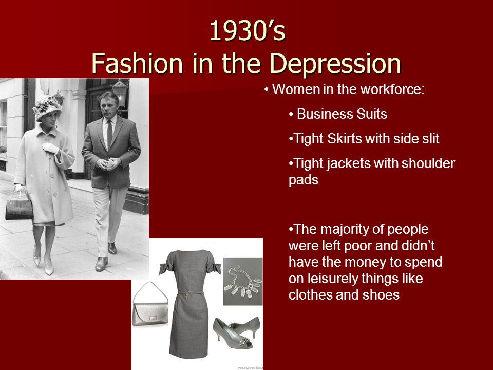 1930's Fashion in the Depression