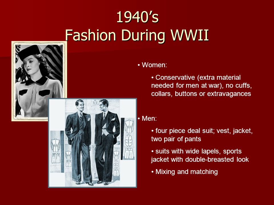 1940's Fashion During WWII Women: