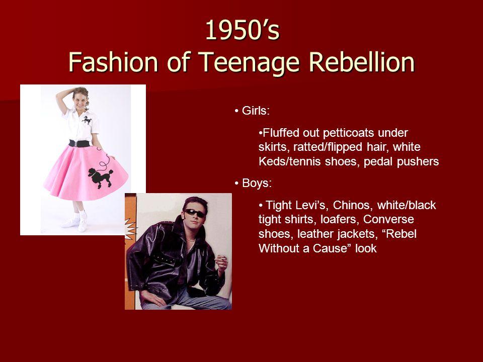 1950's Fashion of Teenage Rebellion