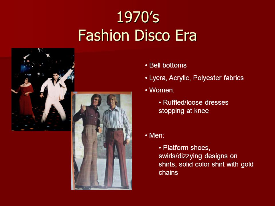 1970's Fashion Disco Era Bell bottoms