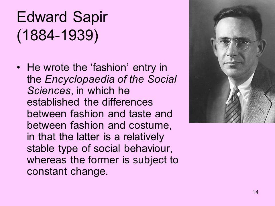 Edward Sapir (1884-1939)
