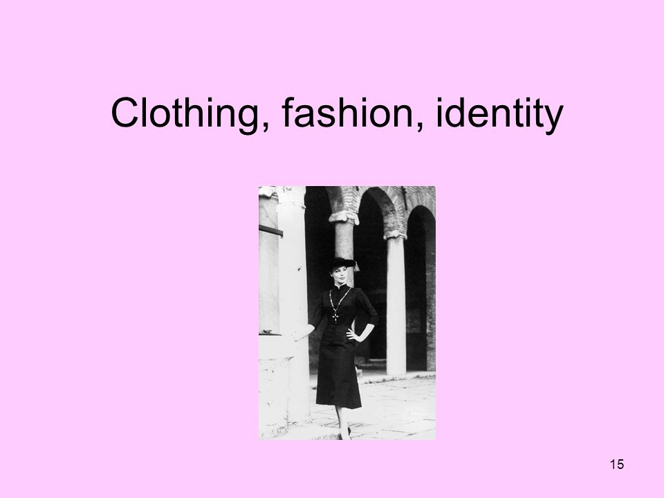 Clothing, fashion, identity