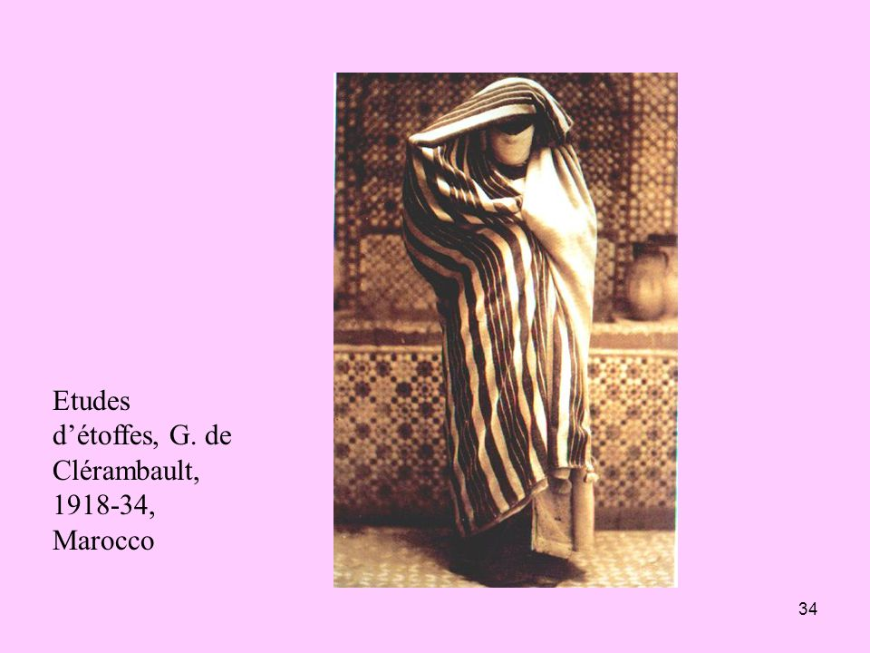Etudes d'étoffes, G. de Clérambault, 1918-34, Marocco