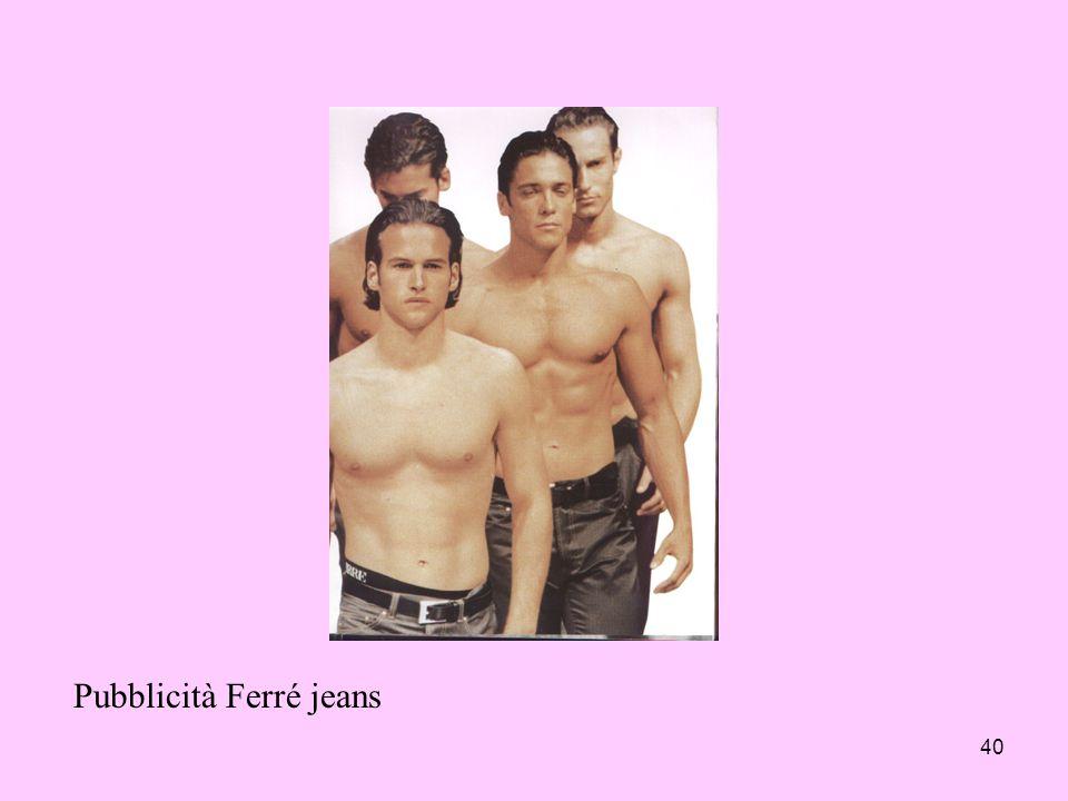 Pubblicità Ferré jeans