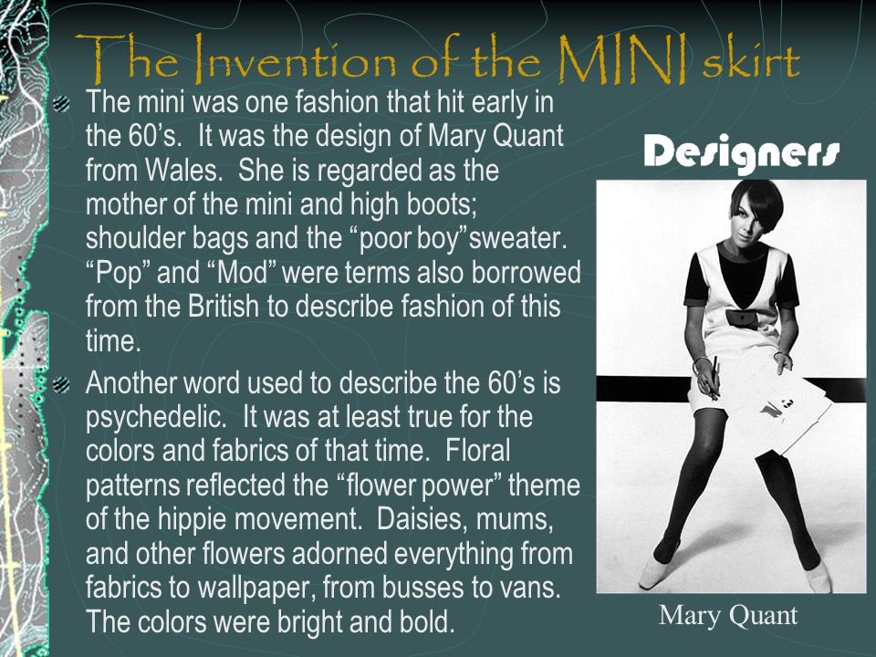 The Invention of the MINI skirt