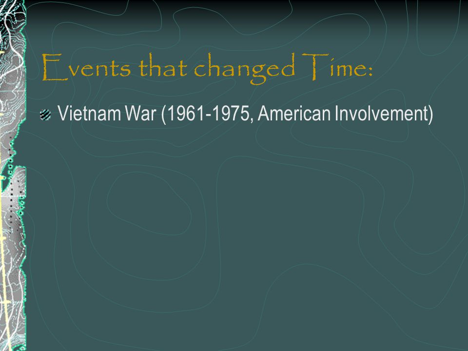 Events that changed Time: