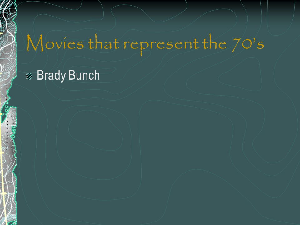 Movies that represent the 70's