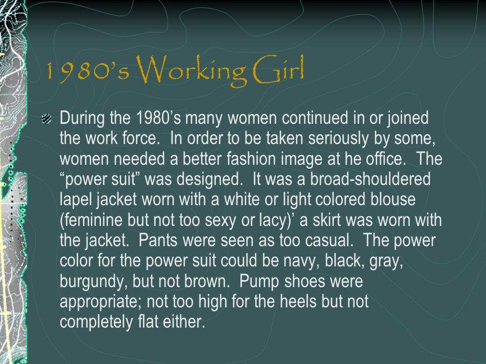 1980's Working Girl